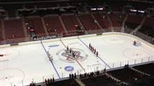 Tweeted photo of crowd for afternoon Florida Panthers exhibition NHL game (courtesy of Erin Brown)