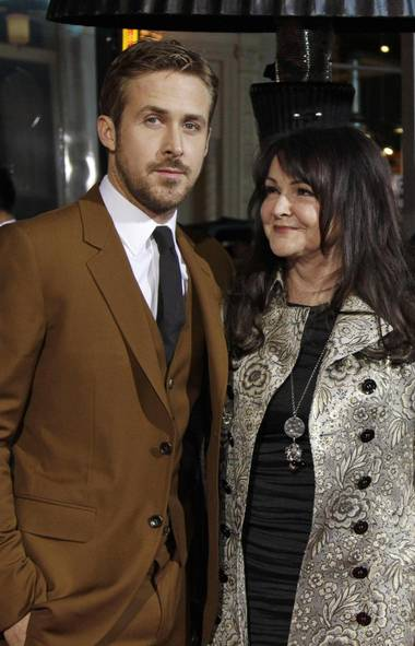 "Ryan Gosling attends the premiere of ""Gangster Squad"" with your imaginary mother-in-law, a.k.a. his mom, in Hollywood on Monday. She imaginarily thinks you're not good enough for him, by the way. (Reuters)"