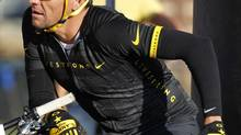 In this Aug. 25, 2012, file photo, cyclist Lance Armstrong prepares to take part in the Power of Four mountain bicycle race in Snowmass Village, Colo. (David Zalubowski/AP)