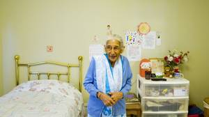 'I try to be loving and kind. If I behave well, they respect me,' Mrs. Das says of her caregivers.