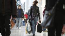 Shoppers at a Toronto mall (Charla Jones/The Globe and Mail)