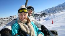 Apps and 'chairlift speed dating' have helped skiers and snowboarders find romance on the slopes. (Handout)