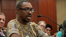 Muhammad Ali Jr., son of boxing legend Muhammad Ali, participates in a forum about immigration enforcement with Democratic members of the House of Representatives at the U.S. Capitol March 9, 2017 in Washington, DC. (Chip Somodevilla/Getty Images)