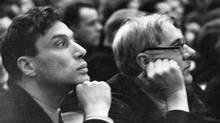 Boris Pasternak (left) at the first Congress of Soviet writers in 1934.