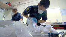 Air Cargo officers discover a hidden stash of steroids.
