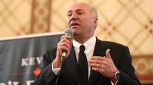 Conservative leadership candidate Kevin O'Leary speaks at Queen's University, in Kingston, Ont., on March 16, 2017. (Lars Hagberg/THE CANADIAN PRESS)