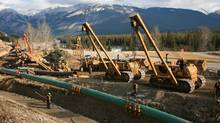 Kinder Morgan completed a controversial expansion of the Trans Mountain pipeline through Jasper National Park several years ago and is looking to continue the expansion of the pipeline to increase capacity more than twofold. (Kinder Morgan)