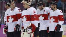Canada's Jamie Benn, Carey Price, Shea Weber and Dan Hamhuis (Mike Ridewood/The Canadian Press)