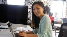 After graduating from Bitmaker Labs, Christine Lee hopes to find a career that will combine her experience in finance with her newfound passion for coding. (Fernando Morales/The Globe and Mail)