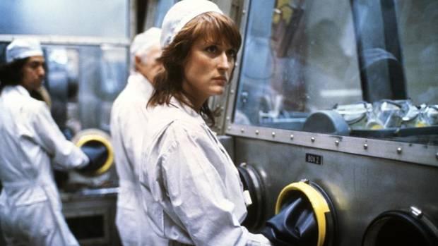 Meryl Streep stars in Silkwood, released in 1983.