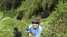 One year the writer suprised Laura with a trip to Rwanda to meet the locals. (Nigel Harris)
