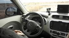 Inside Kia's partially autonomous car (Jordan Chittley/The Globe and Mail)