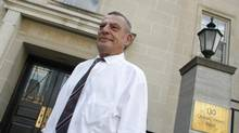 John Felderhof, formerly a Bre-X geologist, is photographed outside of Osgoode Hall in Toronto on Aug. 8, 2011. (Peter Power/The Globe and Mail)