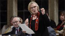 Indigenous and Northern Affairs Minister Carolyn Bennett answers a question during question period in the House of Commons on Parliament Hill in Ottawa on Tuesday, November 1, 2016. In a joint letter, Bennett, Immigration Minister John McCallum and Public Safety Minister Ralph Goodale said an adviser would be appointed to oversee issues surrounding border crossing among First Nations peoples. (Adrian Wyld/THE CANADIAN PRESS)