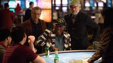 Robert De Niro, Morgan Freeman and Kevin in Last Vegas.