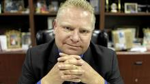Toronto City Councillor Doug Ford in his office at the family business in Etobicoke (Peter Power/The Globe and Mail/Peter Power/The Globe and Mail)