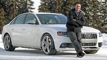 Gold medalist Alexandre Bilodeau and his 2011 Audi S4. (Christinne Muschi/Christinne Muschi for The Globe and Mail)