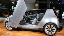 Cadillac Urban Luxury Concept. The ULC has gull wing doors, a footprint of only 151 inches long and 68.1 inches wide and seats four. (ROBYN BECK/AFP/Getty Images)