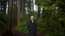 Wade Grant of the Musqueam First Nation is photographed in a forested area that will be developed next to the band's golf course in Vancouver, British Columbia, Wednesday, December 12, 2012. The development will include residential structures and a Marriott Hotel. (Rafal Gerszak For the Globe and Mail)