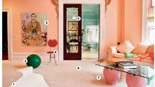 Gallery owner Vivian Reiss's bedroom in Toronto. (Glenn Lowson for The Globe and Mail)
