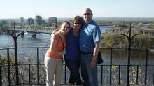 Caitlin, Erin and John in Ottawa in 2013. John travelled to Switzerland last September to receive a doctor-assisted death.