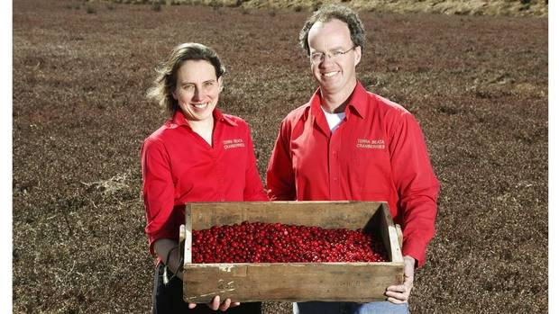 Evelyn and David Ernst are the founders of Terra Beata Farms Ltd. in Lunenburg, N.S. Established in 1998, the company ships frozen cranberries all around the world but has had trouble breaking into Canada's big supermarket chains. (Paul Darrow for the Globe and Mail)
