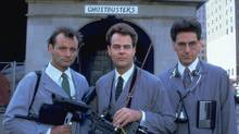Ghostbusters, wi th Bill Murray, Dan Aykroyd and Harold Ramis (KOBAL COLLECTION/COLUMBIA)