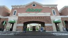File photo of a Sobeys supermarket in Toronto. (Fred Lum/The Globe and Mail)