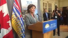 B.C. Premier Christy Clark speaks in Victoria, Thursday, Jan.22, 2015. (Dirk Meissner/THE CANADIAN PRESS)