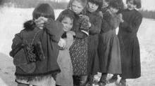 Hay River residential school children, circa1920s. (NWT ARCHIVES)