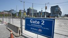 Looking at the north east corner of Cheery and Mill Sts. on July 18 2014. Construction of athlete housing and other related buildings for the Toronto 2015 Pan Am Games continues on the site located near Cherry St. and Front St. East. (Fred Lum/The Globe and Mail)