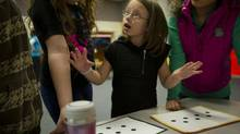 Parkdale pupil Dora Maticser, 10, suffered from daily headaches due to eye strain when she first started school. (Kevin Van Paassen/The Globe and Mail)