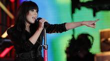 Carly Rae Jepsen performs during half-time at the 100th Grey Cup game (The Globe and Mail)
