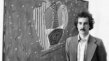 David Bolduc is seen in 1977 with one of his works. (James Lewcun/The Globe and Mail)