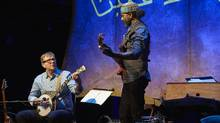 John Millard and Waleed Abdulhamid's new show, John & Waleed, is both a showcase for their songs and a celebration of their friendship. (Michael Cooper)