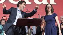 Federal Liberal leader Justin Trudeau and party president Anna Gainey, at a party convention in 2014. (Ryan Remiorz/THE CANADIAN PRESS)