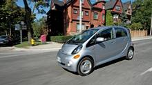 The Mitsubishi i-MiEV takes off like a rock from a slingshot.