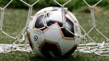 A soccer ball is seen in this file photo. (MARIANA BAZO/REUTERS)