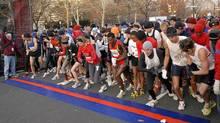 Runners get ready to start at the 2008 Philadelphia Marathon, November 23, 2008. (HO)