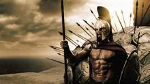 Gerard Butler in 300. (Courtesy of Warner Bros. Picture/© 2006 Warner Bros. Entertainment Inc.)