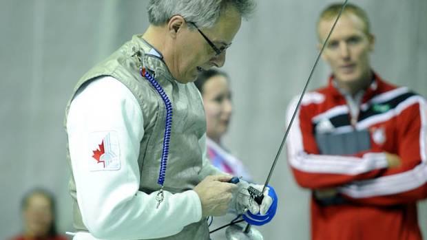 En Garde Fencer Mark Ballard In Action The Globe And Mail