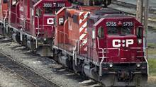 Rail congestion around Chicago and rising costs are expected to trump a boost in shipping volumes when Canadian Pacific Railway Co. reports financial results for the second quarter on Thursday. (DARRYL DY/THE CANADIAN PRE)