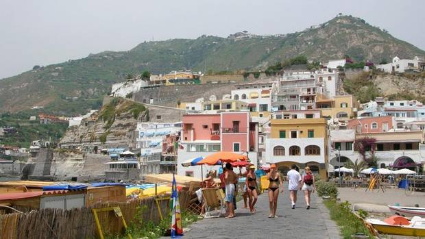 Heading to the beach at Sant'Angelo in Ischia. (Domini Clark/The Globe and Mail)
