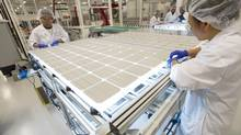 Silfab is an Ontario based photovoltaic (PV) technology solution provider which build components for solar farms. (Kevin Van Paassen/The Globe and Mail)