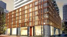 Rendering of the podium of 60 Colborne, by Freed Developments, St. Lawrence Market, Toronto. (Freed Developments)