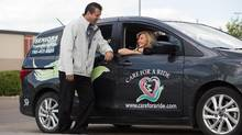 Care for a Ride co-owners Shawn and Shelly Szydlowski found a business niche driving older patients to appointments in the Edmonton area. (Amber Bracken/The Globe and Mail)