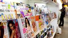 A magazine stand in Toronto on Tuesday, April 3, 2012. Rogers Media will offer a new digital bundle service that will give subscribers access to more than 100 Canadian and American magazines in digital format. (Michelle Siu For The Globe and Mail)