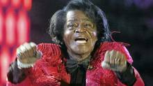 Singer James Brown performs at a concert in Murrayfield stadium in Edinburgh in this July 6, 2005 file photo. (Reuters)
