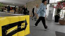 Voters enter the Toronto Botanical Garden poll station on Monday. (Fernando Morales/The Globe and Mail)