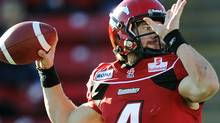 The Calgary Stampeders and quarterback Drew Tate will face the Edmonton Eskimos in Sunday's divisional semi-final. REUTERS/Todd Korol (Todd Korol/Reuters)
